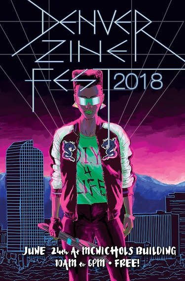 2018 Denver Zine Fest Poster (no logos) - small
