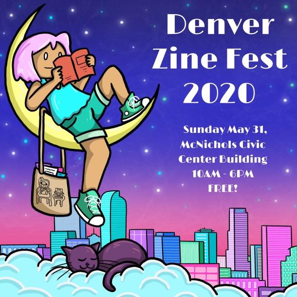 2020 Denver Zine Fest Poster (8x8)